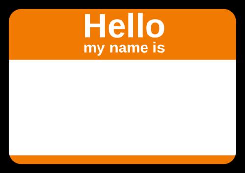 Standard Orange Corporate Name Tag Template Name Tag Templates Graffiti Words Name Tags
