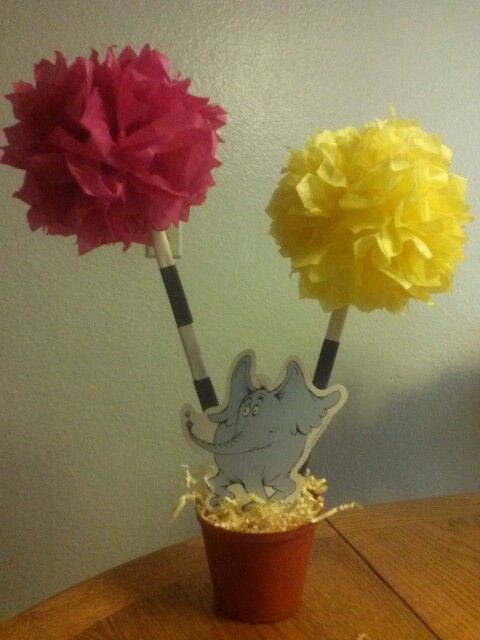Dr. Seuss them centerpieces