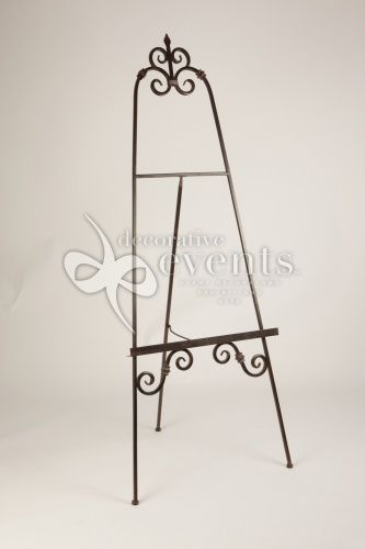 Large Iron Easels Wrought Easel And Mirror Metal Picture Stand