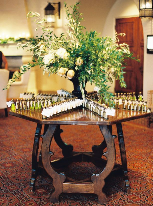 olive oil Escort Card Ideas; wedding by all you need is love events
