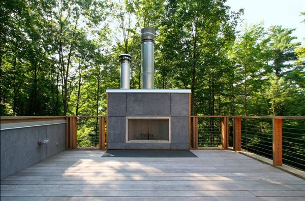 12 Amazing Modern Outdoor Fireplaces Modern Outdoor Fireplace