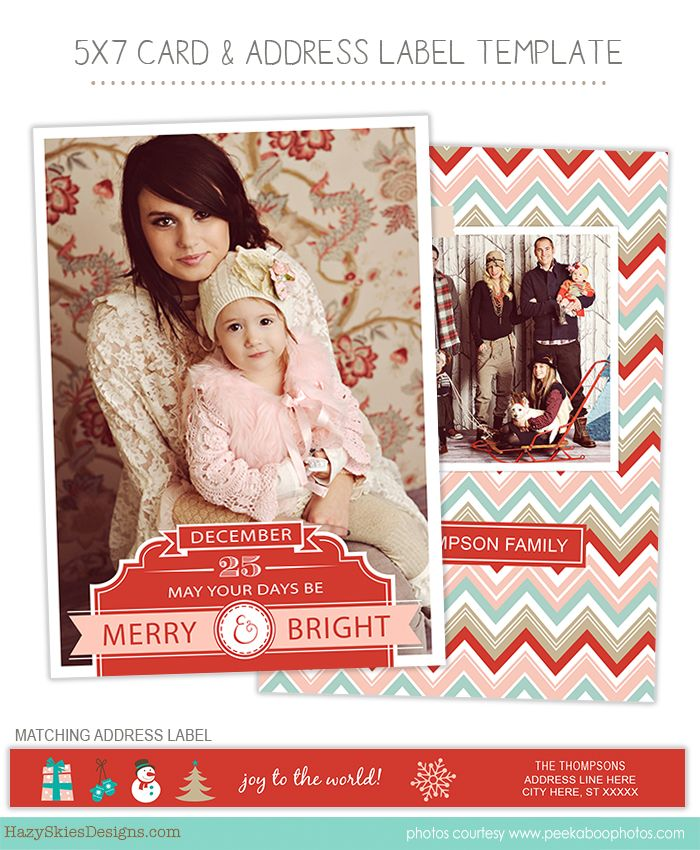Christmas Holiday Card Photoshop Templates For Photographers Photographer Photography Christmas Christmas Card Template Holiday Card Template Card Templates