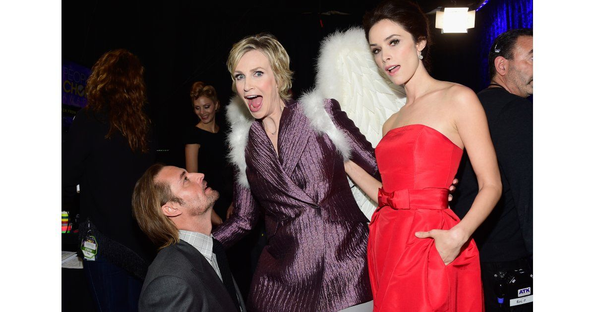 Josh Holloway and Abigail Spencer were blessed by a winged Jane Lynch.