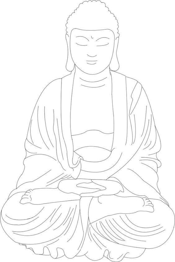 Buddha Lineart By Sarahmame Buddha Art Painting Buddha Artwork Buddha Drawing