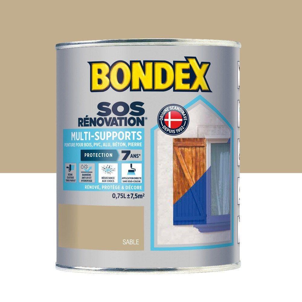 Peinture Multimateriau Sos Renovation Exterieur Sable Satin Bondex 0 75 L En 2020 Peinture Exterieure Exterieur Gris Et Castorama