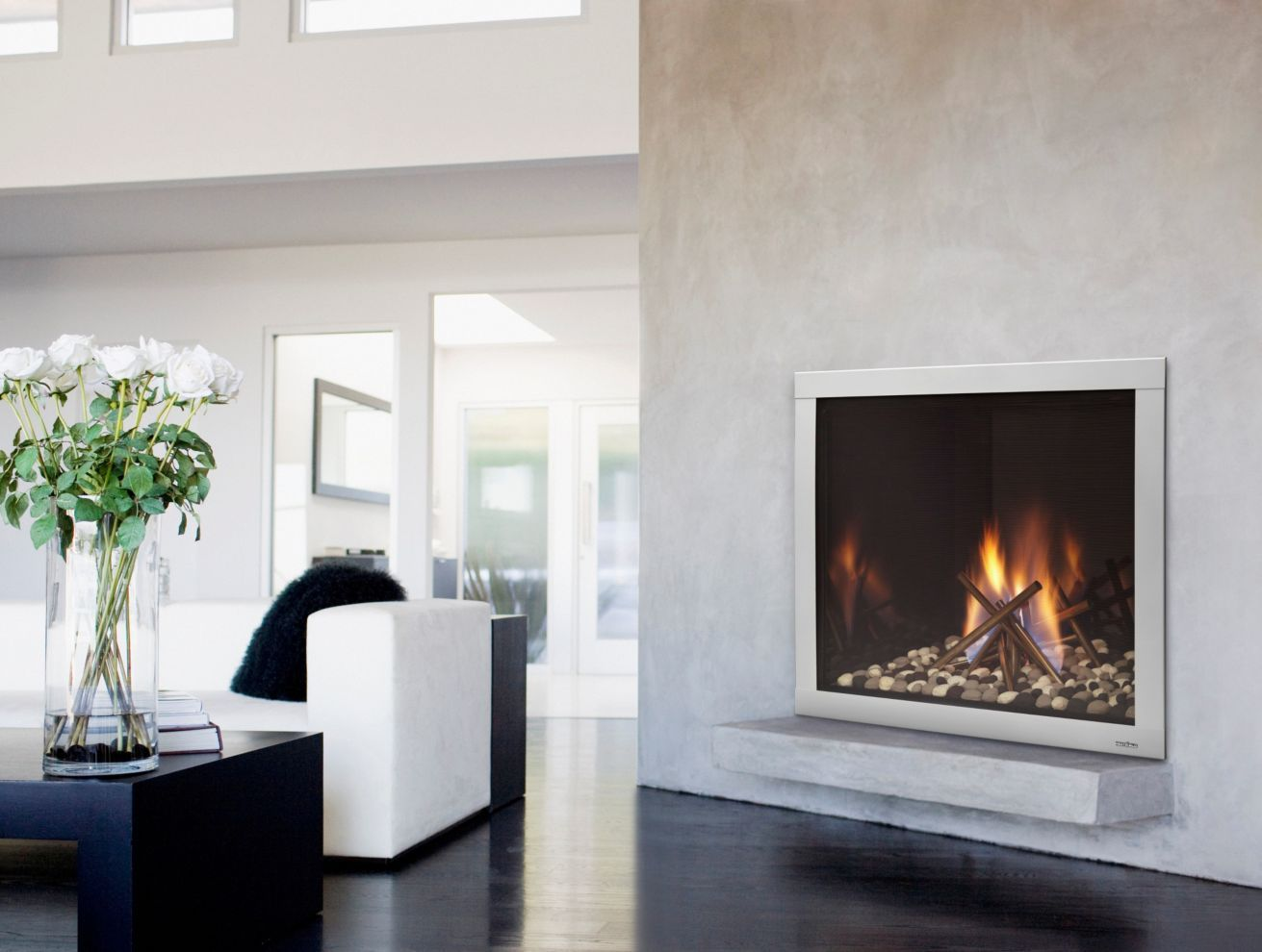 A Fireplace From California Mantel Fireplace Adds Interest To