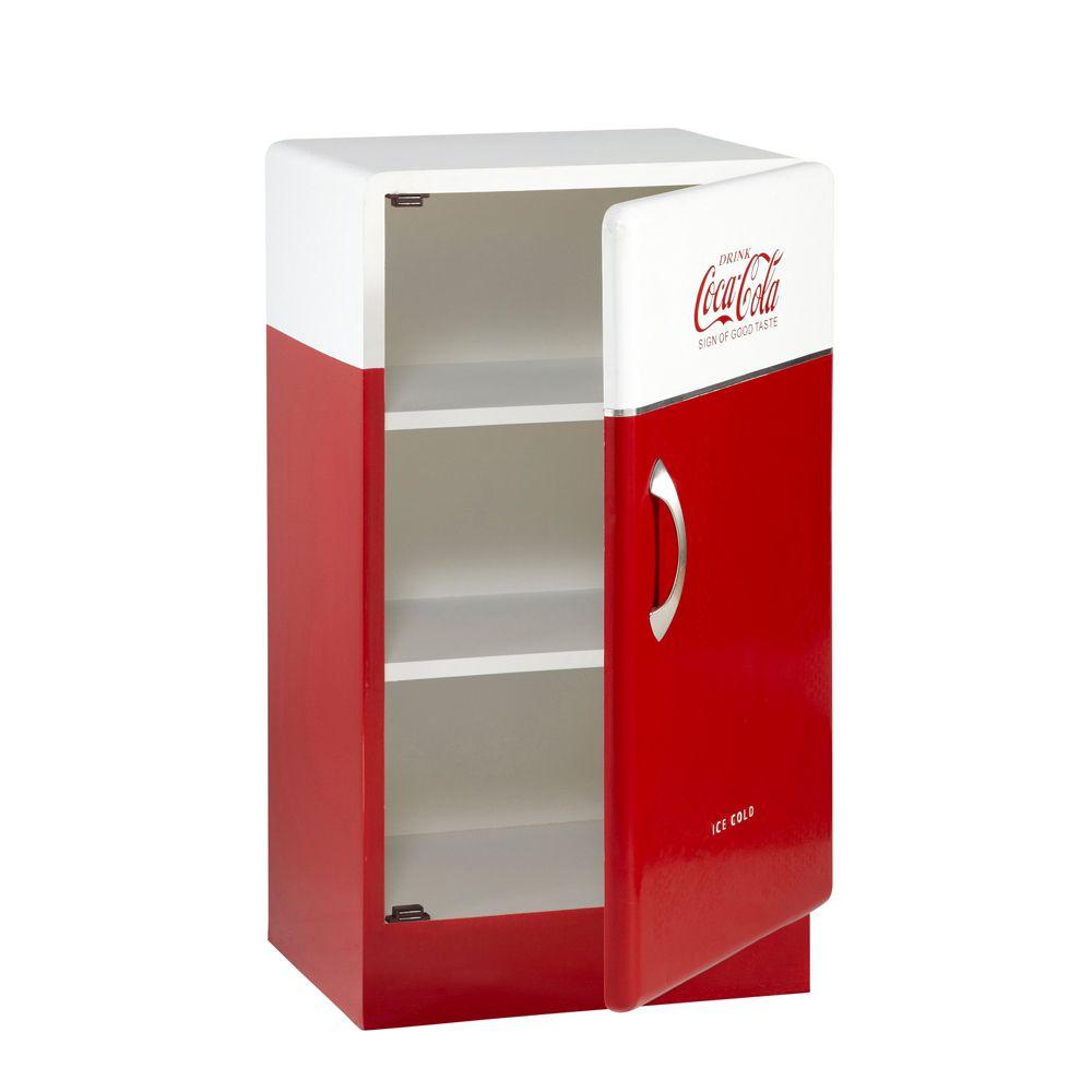 cabinet rouge et blanc coca cola maison du monde et deco rangement. Black Bedroom Furniture Sets. Home Design Ideas