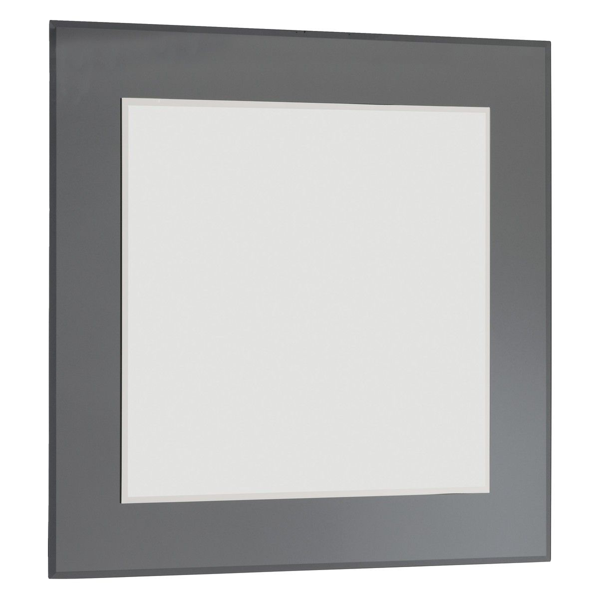 Lay 90 X 90cm Grey Square Wall Mirror Lighted