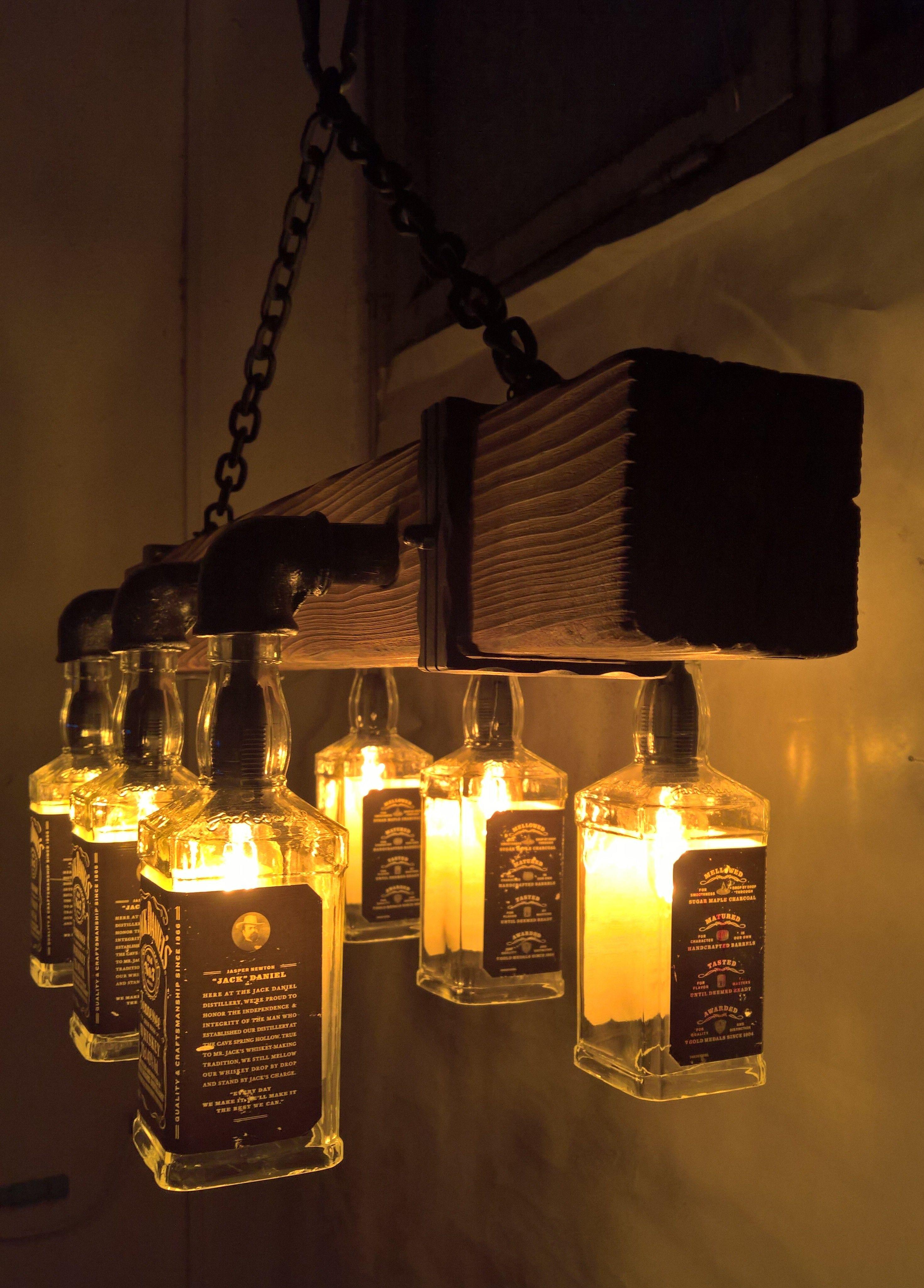 Jack Daniels Light Fixture Easy Craft Ideas
