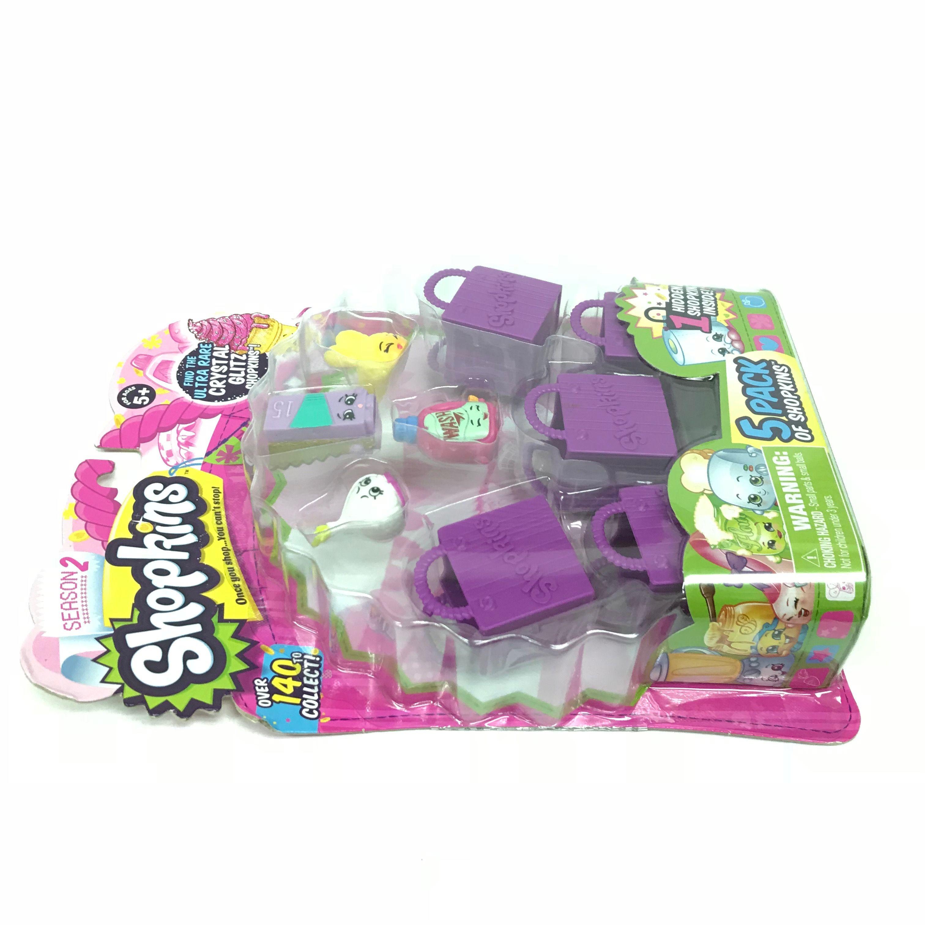 Shopkins-Season-2-Collectibles-Pack-of-5-Bags-Characters-Set thumbnail 14