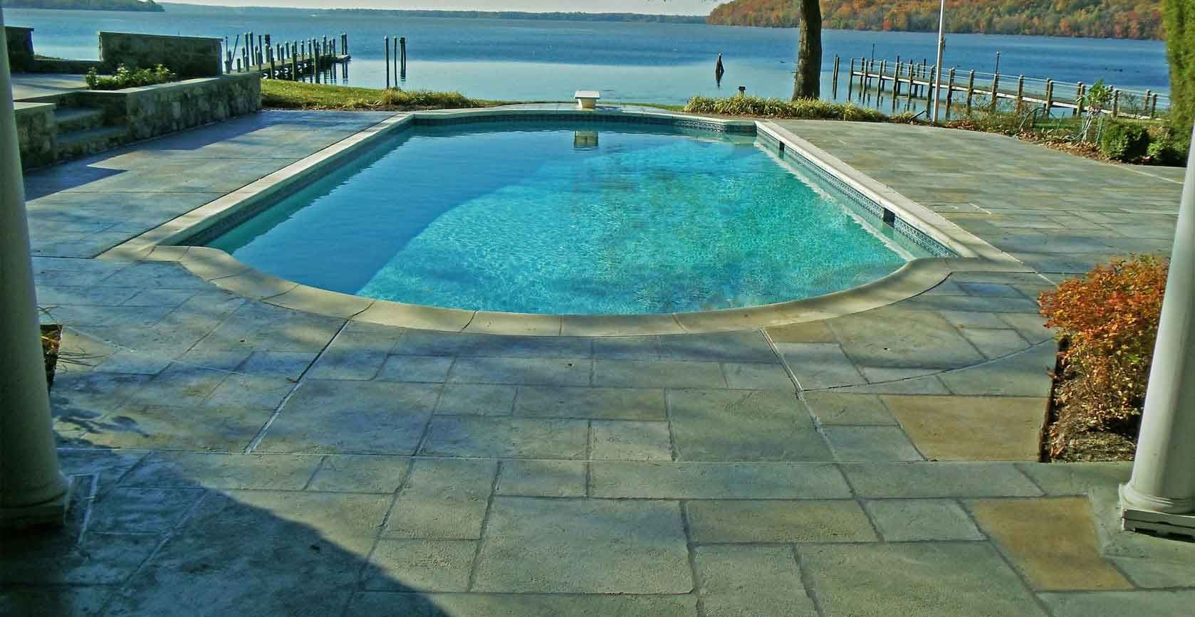 Give Your Annapolis Backyard A New Look With Pool Deck Resurfacing Outdoor Pool Pool Patio Painted Patio