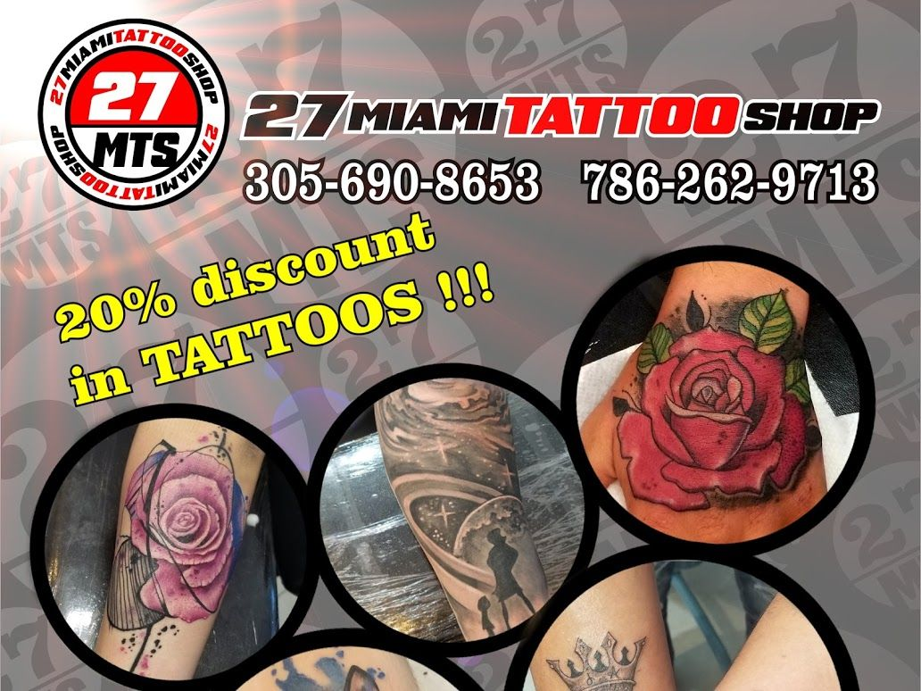 27 miami tattoo shop 40 ne 167th st miami fl 33162