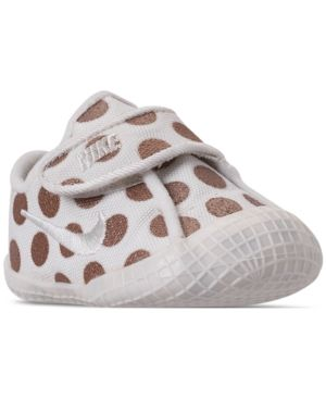4c386db50d69 Nike Girls  Infant Waffle 1 Premium Crib Booties from Finish Line - White 3