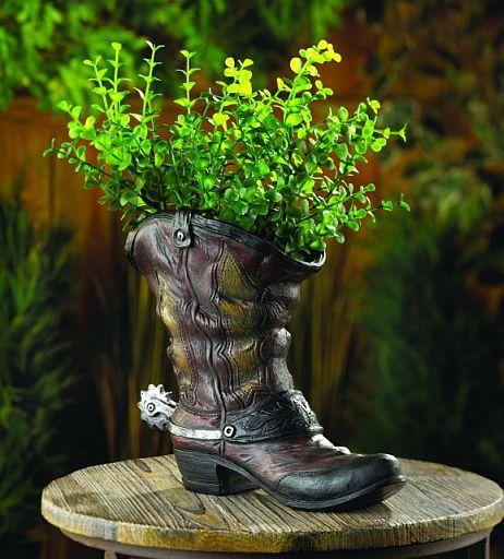 Garden Decor Accentu0027s Western Style Boot Planter. What Do You Think?  #gardenchat GardenDecorAccents