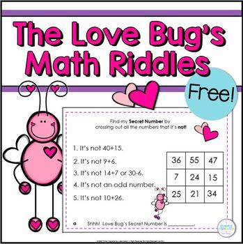 Valentines Day Math Riddles Math, Riddles, Math activities
