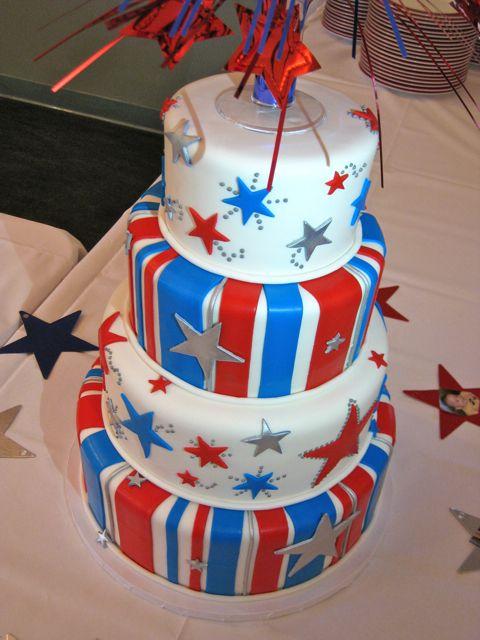 Stars & Stripes Graduation Cake | Decorate This ...