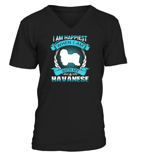 # Havanese Funny Gift T-shirt for dog lover .  Shirts says: I am happiest when I am with my Havanese funny gift t-shirt for dog lover.Best present for Halloween, Mother's Day, Father's Day, Grandparents Day, Christmas, Birthdays everyday gift ideas or any special occasions.HOW TO ORDER:1. Select the style and color you want:2. Click Reserve it now3. Select size and quantity4. Enter shipping and billing information5. Done! Simple as that!TIPS: Buy 2 or more to save shipping cost!Guaranteed…