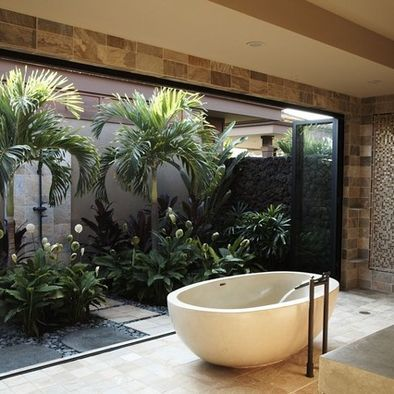 Tropical Ideas For Small Bathrooms Bathroom Design Ideas Pictures Remodel And Decor Outdoor Bathrooms Tropical Bathroom Zen Bathroom