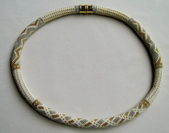 Bead Crochet Necklace Pattern: Silver Threads and Golden Needles ...