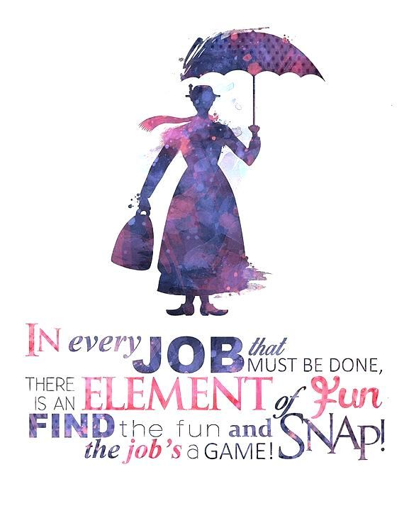 Spoonful of Sugar Mary Poppins 8x10 Printable Poster - DIGITAL / Instant Download / Disney Wall Art
