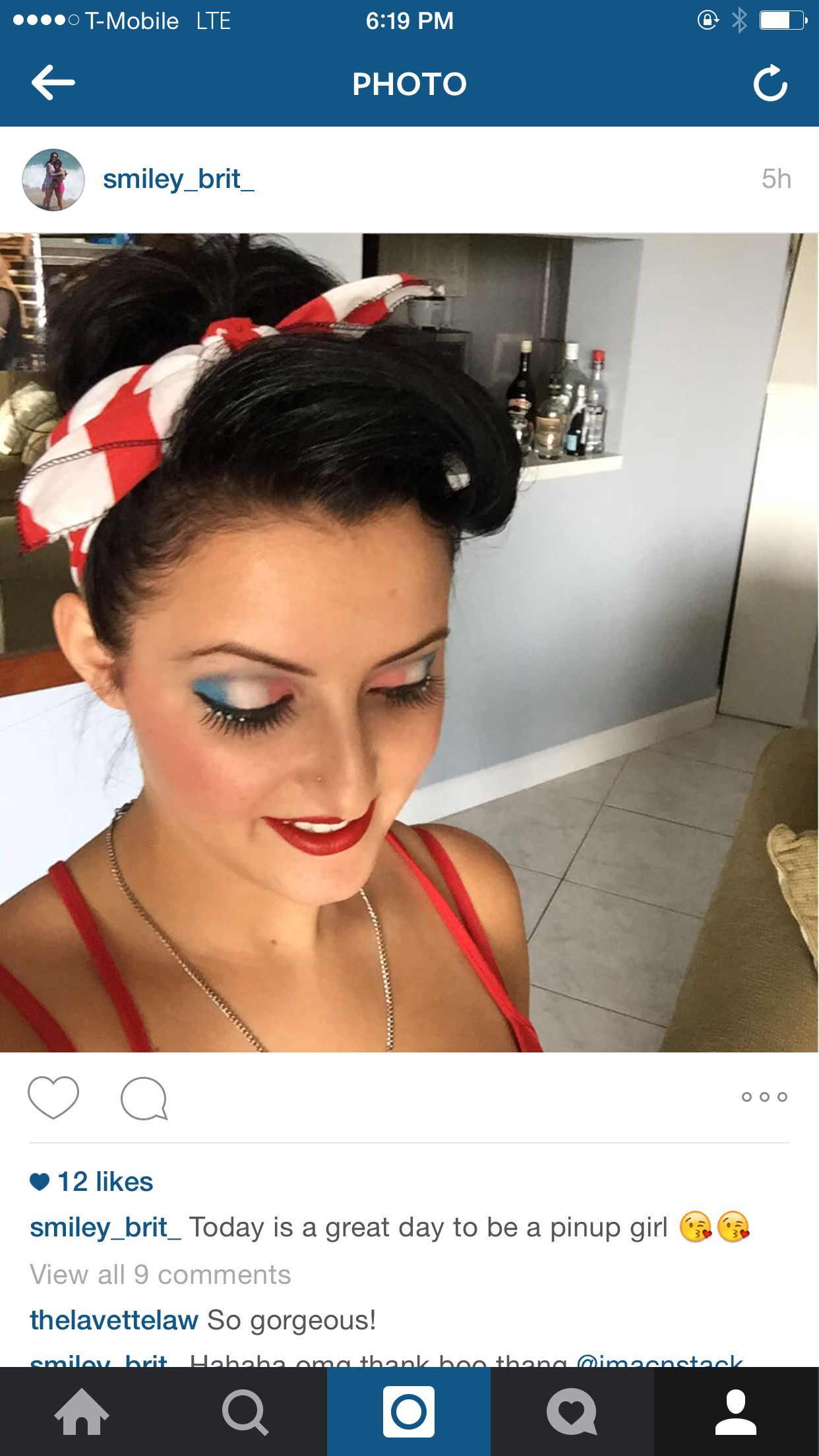 My 4th of july pinup girl creation