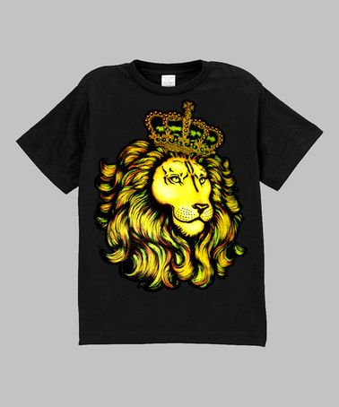 Look at this #zulilyfind! Black Royal Lion Tee - Infant, Toddler & Boys by Micro Me #zulilyfinds