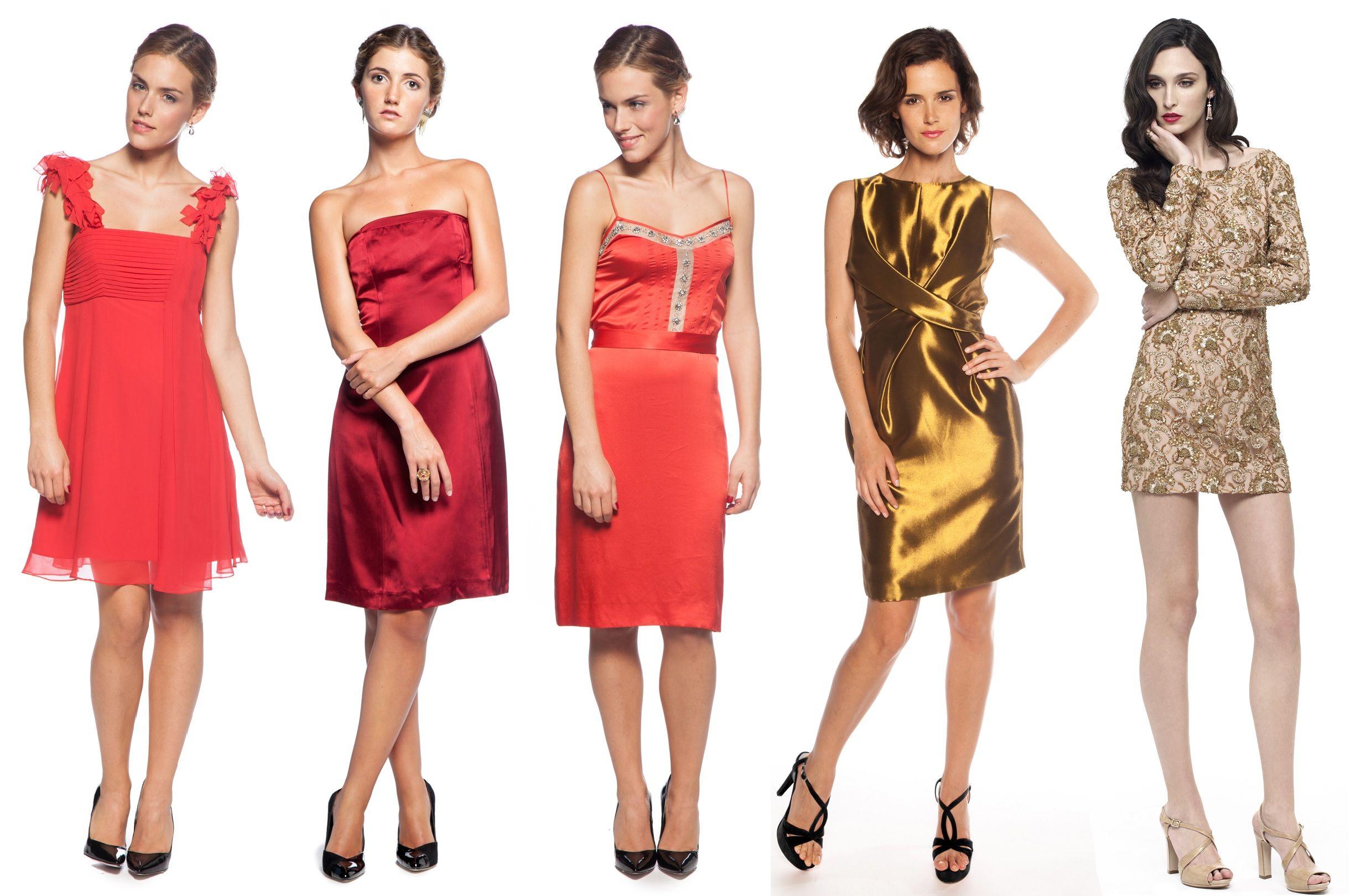 8a9daaf15 alquiler de vestidos cortos. vestido rojo y dorado. www.lamasmona ...
