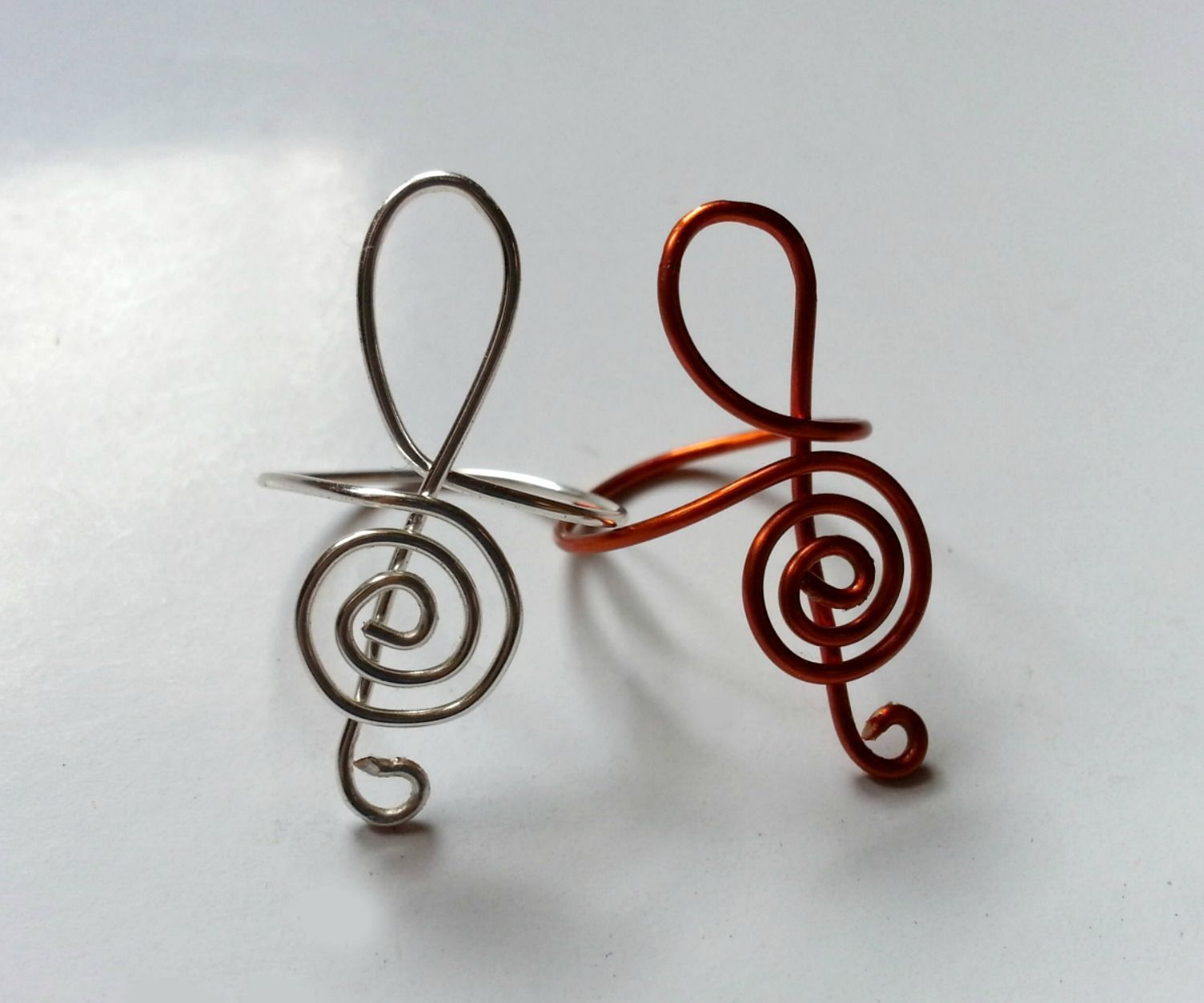 DIY G-Clef Inspired Ring | Clef, Treble clef and Craft