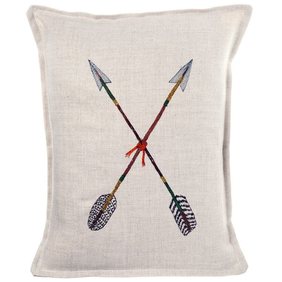 Coral and Tusk - crossed arrows pillow | F i b e r | Pinterest