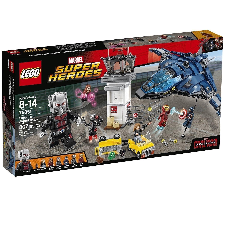 Hero Lego Battle Super War Airport Marvel America Captain Civil vO80mNnw