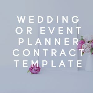 Wedding Or Event Planner Contract Template  Planners Template
