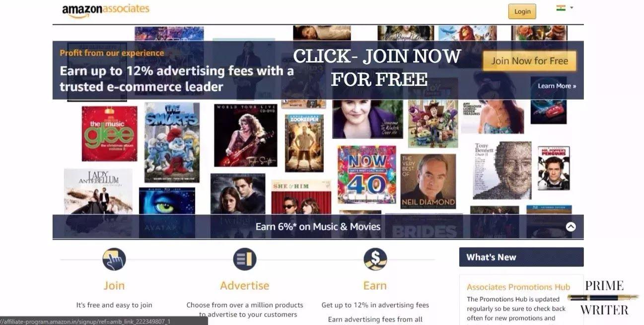 amazon affiliate sign up