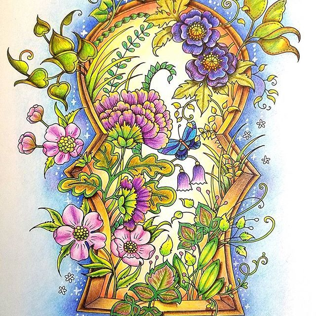 Its Done My First Page From The IVY AND THE INKY BUTTERFLY Coloring Book By Johannabasford I Used Staedtler Ergosoft Colored Pencils