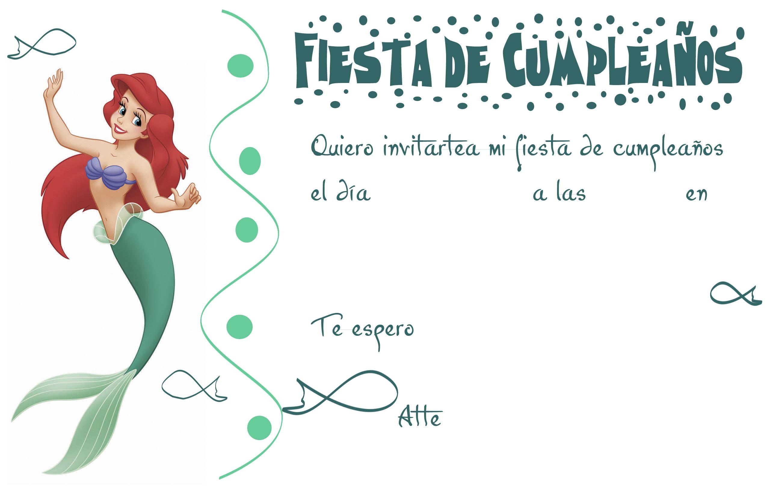 Invitacion De Cumpleaños De La Sirenita Tips E Ideas