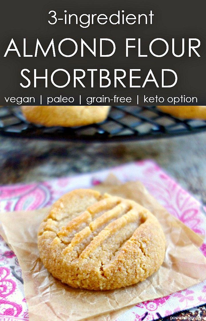 3 Ingredient Almond Flour Shortbread Cookies Keto Option Vegan Grain Free Paleo