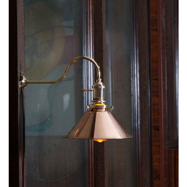 Vintage Industrial Copper Shade Wall Lamp Retro Edison Wall Mount Diy Lighting Wall Mounted Lamps Industrial Hanging Lights Brass Wall Mount Light