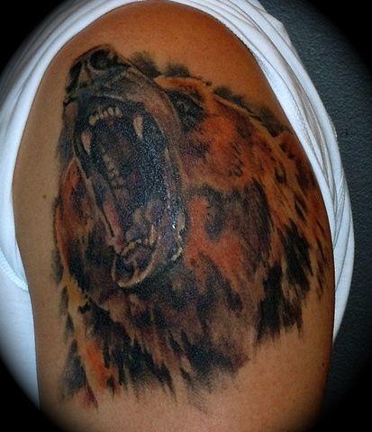 Miss Amanda slc tattoo grizzly bear