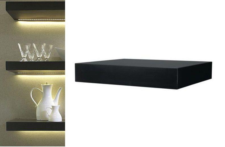 Ikea Wall Shelf Black Floating Conceal