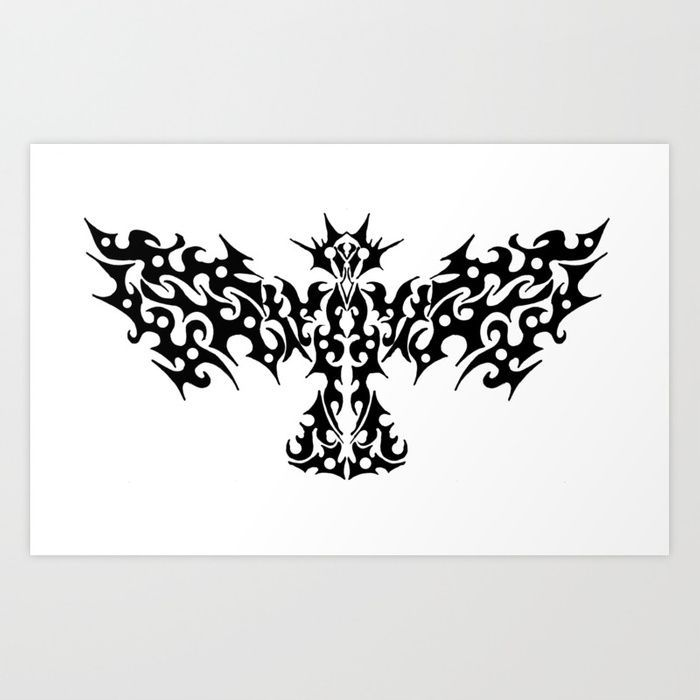 Photo of Tribal Dragon Bird Tattoo Design Kunstdruck – #ZeichenbloQ # society6 #blackandw…