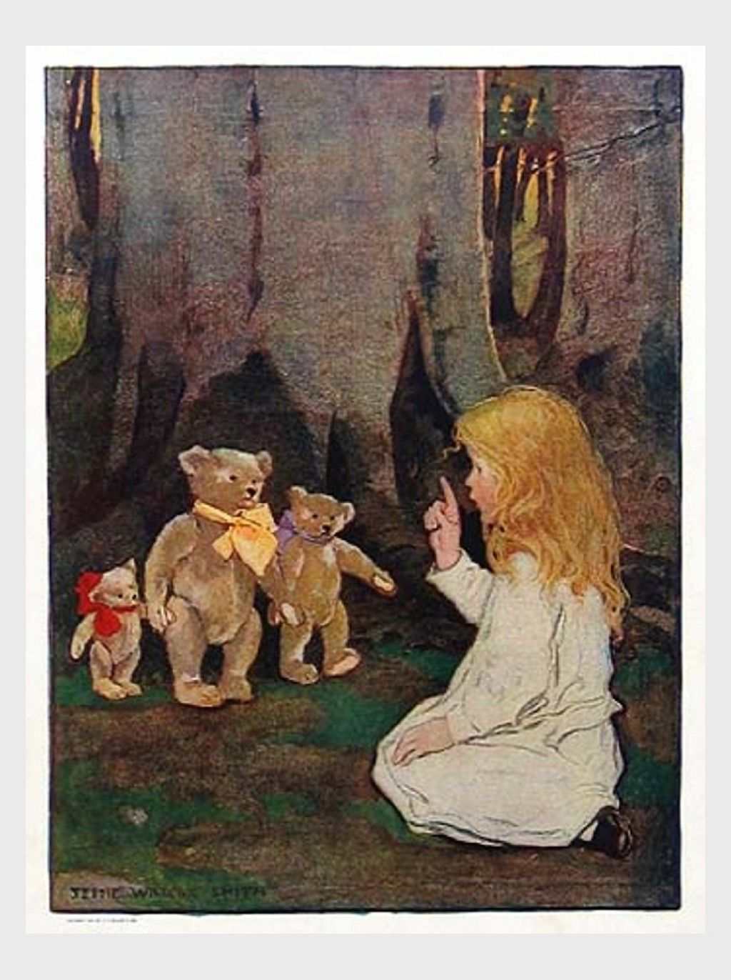 Jessie Willcox Smith (1863 - 1935, American) | Goldilocks