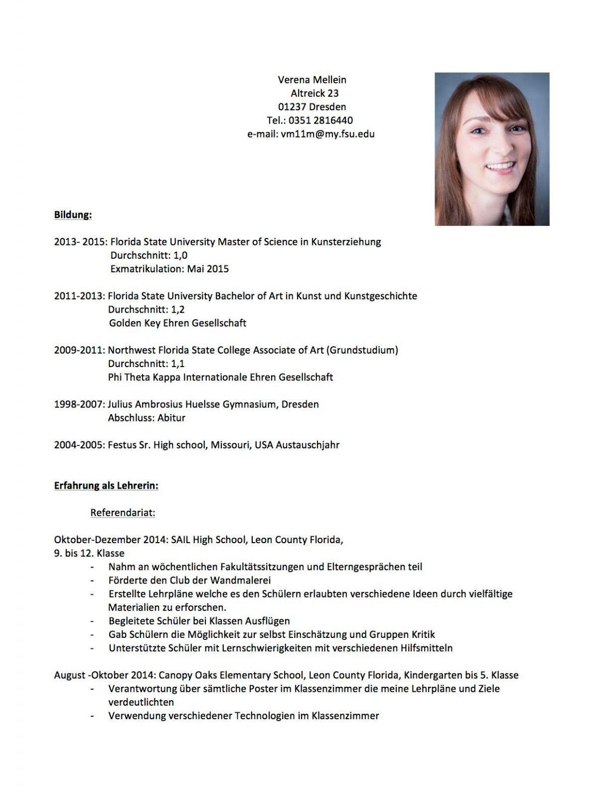 Lebenslauf Deutsch Lehrer In 2020 Lebenslauf Lehrer Englisch Vorlagen Lebenslauf