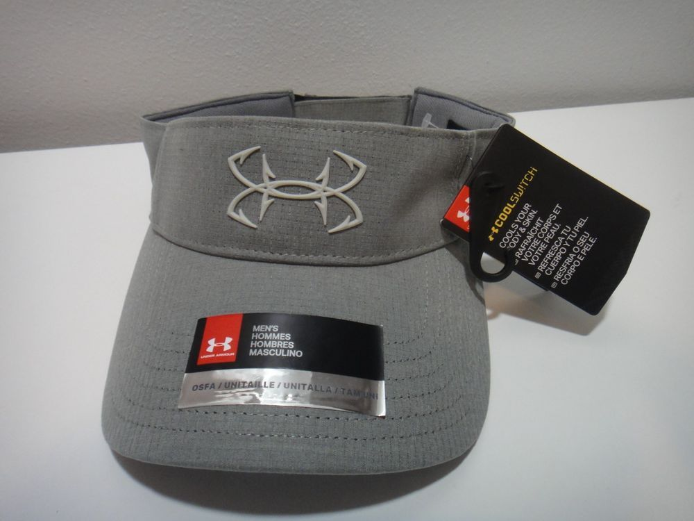 aafea5c0 Under Armour Mens Fish Hook Coolgear Visor Hat #Underarmour #Visor ...