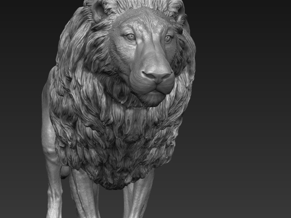 Lion realistic 3D TurboSquid 1290876