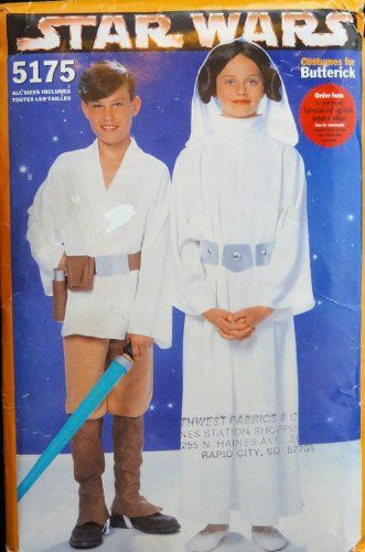 Butterick 5175 Star Wars Sewing Pattern for Children, Costume for ...