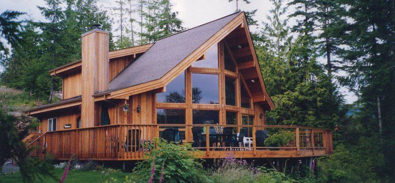 Log and cedar homes log maple cedar and timber frame for A frame house kits cost