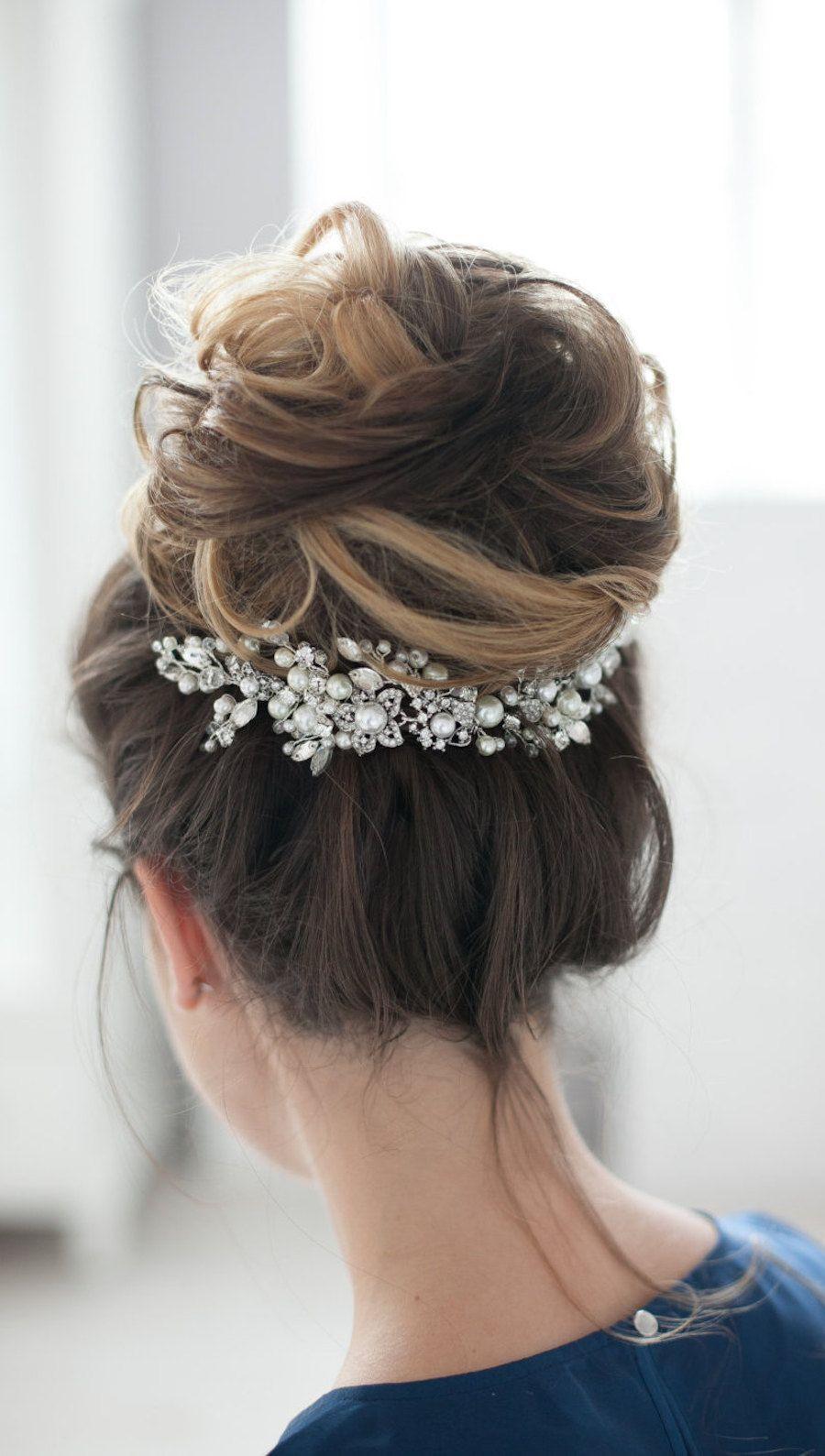 gorgeous bridal headpiece, wedding headpiece | elegant