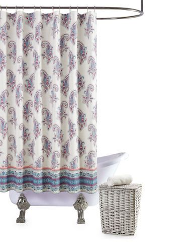 Jessica Simpson Gemma Cotton Shower Curtain Women S Blue Multi