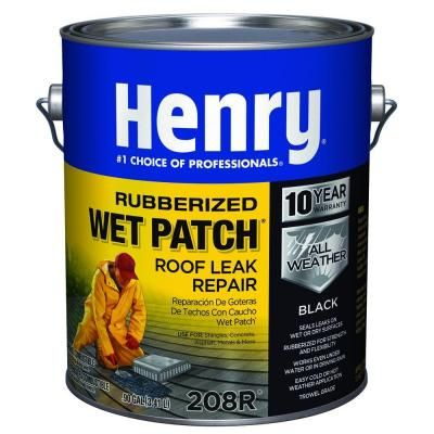 Henry 0 90 Gal 208r Rubber Wet Patch Roof Cement He208r142 The Home Depot Leaking Roof Roof Leak Repair Leak Repair