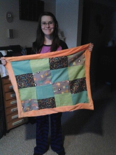 Britts first quilt