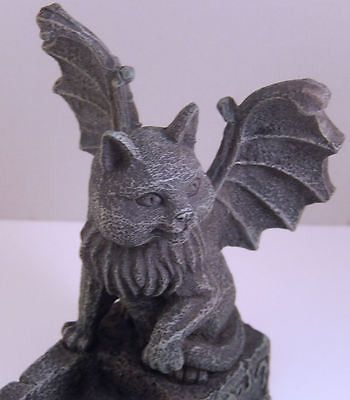Meval Cat Gargoyle Incense Burner Chimera Winged Kitty Gothic Home Decor Products Pinterest And